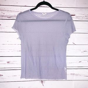 Garage Sheer Tee in Periwinkle